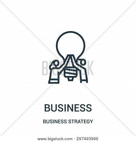 Business Icon Isolated On White Background From Business Strategy Collection. Business Icon Trendy A