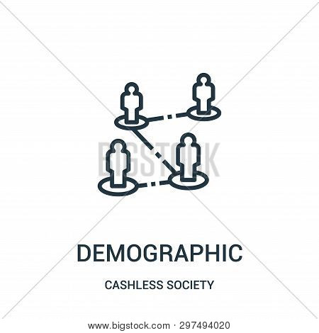 Demographic Icon Isolated On White Background From Cashless Society Collection. Demographic Icon Tre