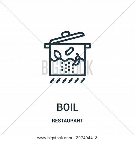 Boil Icon Isolated On White Background From Restaurant Collection. Boil Icon Trendy And Modern Boil