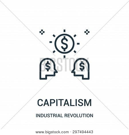 Capitalism Icon Isolated On White Background From Industrial Revolution Collection. Capitalism Icon