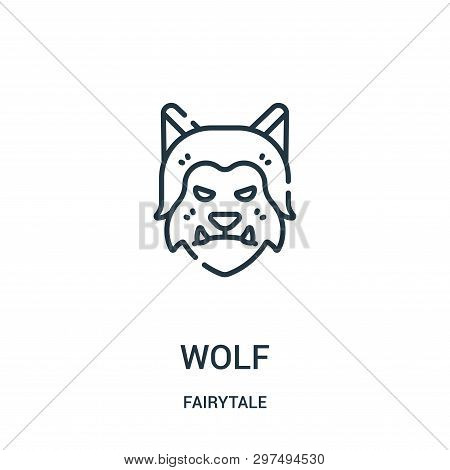 Wolf Icon Isolated On White Background From Fairytale Collection. Wolf Icon Trendy And Modern Wolf S