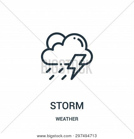 Storm Icon Isolated On White Background From Weather Collection. Storm Icon Trendy And Modern Storm