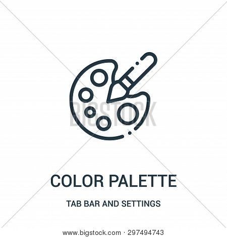 Color Palette Icon Isolated On White Background From Tab Bar And Settings Collection. Color Palette