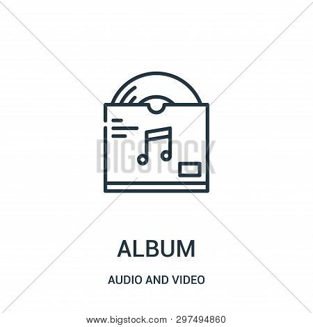 Album Icon Isolated On White Background From Audio And Video Collection. Album Icon Trendy And Moder
