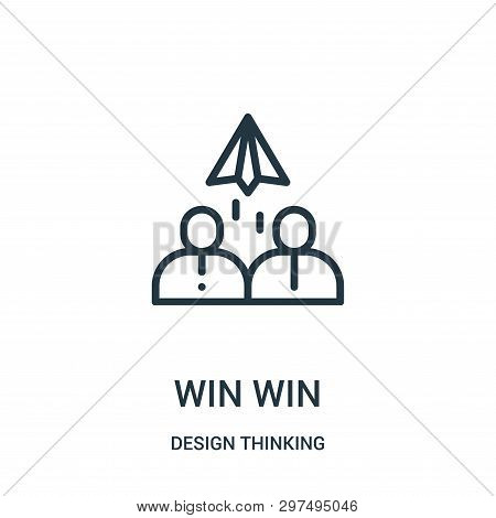 Win Win Icon Isolated On White Background From Design Thinking Collection. Win Win Icon Trendy And M