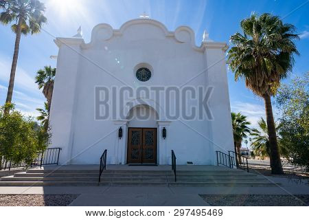 The Immaculate Conception Catholic Church Located In Ajo, Arizona