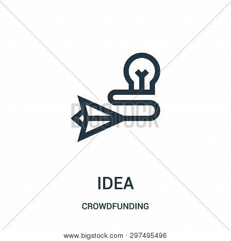Idea Icon Isolated On White Background From Crowdfunding Collection. Idea Icon Trendy And Modern Ide
