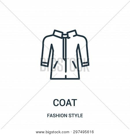 Coat Icon Isolated On White Background From Fashion Style Collection. Coat Icon Trendy And Modern Co