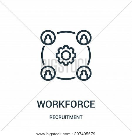 Workforce Icon Isolated On White Background From Recruitment Collection. Workforce Icon Trendy And M