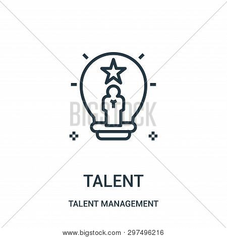 Talent Icon Isolated On White Background From Talent Management Collection. Talent Icon Trendy And M