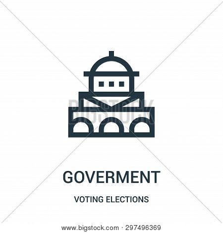 Goverment Icon Isolated On White Background From Voting Elections Collection. Goverment Icon Trendy