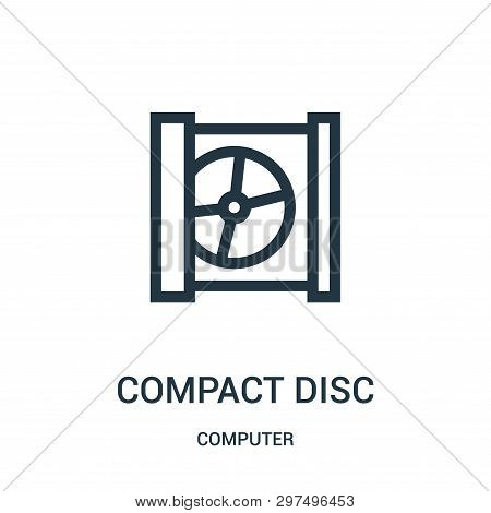 Compact Disc Icon Isolated On White Background From Computer Collection. Compact Disc Icon Trendy An