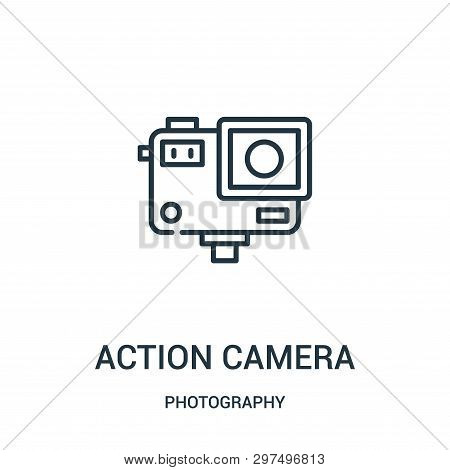 Action Camera Icon Isolated On White Background From Photography Collection. Action Camera Icon Tren
