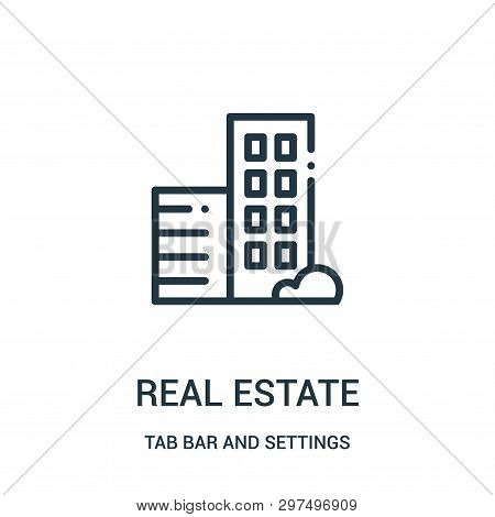Real Estate Icon Isolated On White Background From Tab Bar And Settings Collection. Real Estate Icon