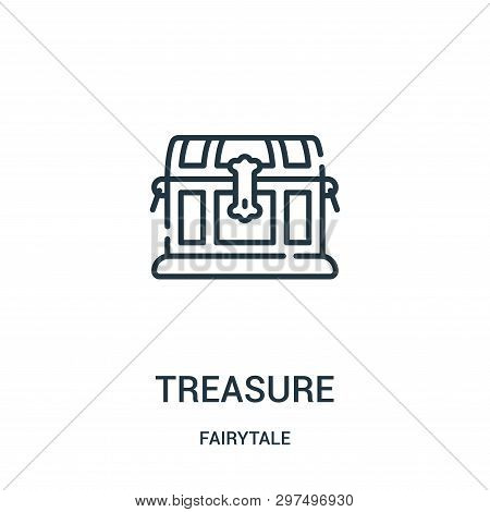 Treasure Icon Isolated On White Background From Fairytale Collection. Treasure Icon Trendy And Moder