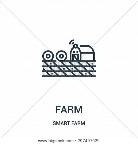 Farm Icon Isolated On White Background From Smart Farm Collection. Farm Icon Trendy And Modern Farm