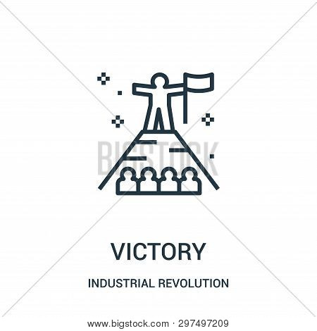 Victory Icon Isolated On White Background From Industrial Revolution Collection. Victory Icon Trendy