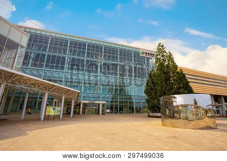 Aomori, Japan - April 22 2018: Shin-aomori Station Is The Northern Terminus Of The Ōu Main Line From
