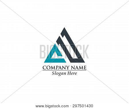 Initial, Ua, Uia Ud, Lia Linked Design Concept Triangle Sign