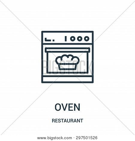 Oven Icon Isolated On White Background From Restaurant Collection. Oven Icon Trendy And Modern Oven