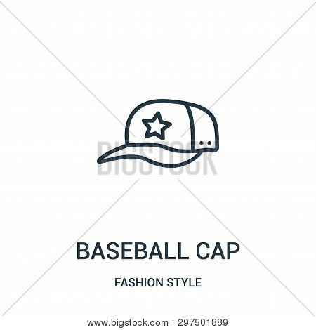 Baseball Cap Icon Isolated On White Background From Fashion Style Collection. Baseball Cap Icon Tren