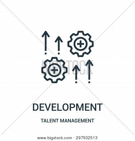 Development Icon Isolated On White Background From Talent Management Collection. Development Icon Tr