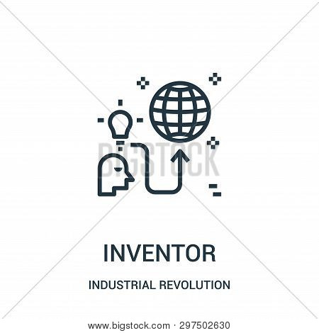 Inventor Icon Isolated On White Background From Industrial Revolution Collection. Inventor Icon Tren