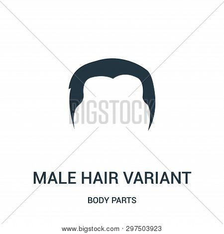 Male Hair Variant Icon Isolated On White Background From Body Parts Collection. Male Hair Variant Ic