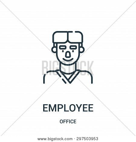 Employee Icon Isolated On White Background From Office Collection. Employee Icon Trendy And Modern E