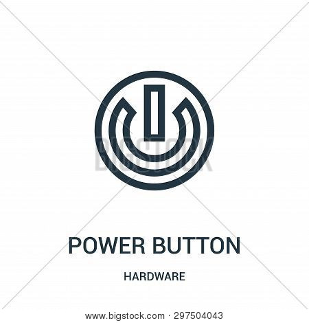 Power Button Icon Isolated On White Background From Hardware Collection. Power Button Icon Trendy An