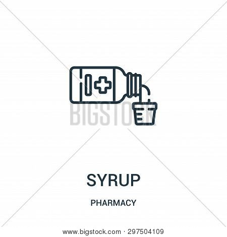 Syrup Icon Isolated On White Background From Pharmacy Collection. Syrup Icon Trendy And Modern Syrup