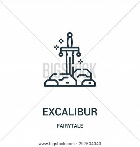 Excalibur Icon Isolated On White Background From Fairytale Collection. Excalibur Icon Trendy And Mod