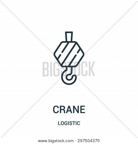 Crane Icon Isolated On White Background From Logistic Collection. Crane Icon Trendy And Modern Crane