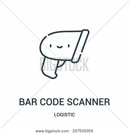 Bar Code Scanner Icon Isolated On White Background From Logistic Collection. Bar Code Scanner Icon T