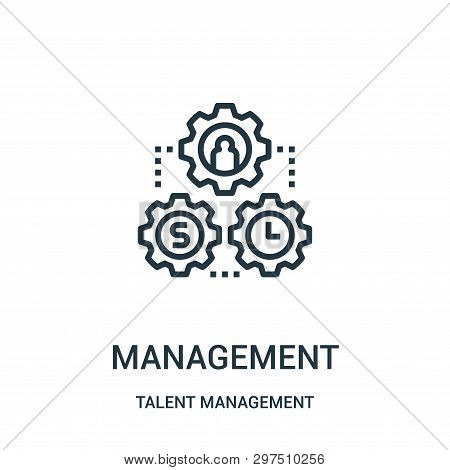 Management Icon Isolated On White Background From Talent Management Collection. Management Icon Tren