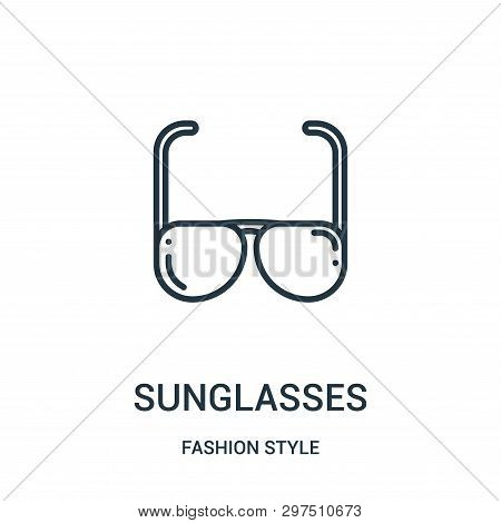 Sunglasses Icon Isolated On White Background From Fashion Style Collection. Sunglasses Icon Trendy A
