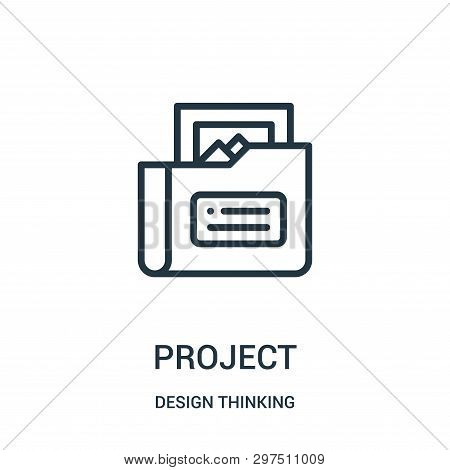 Project Icon Isolated On White Background From Design Thinking Collection. Project Icon Trendy And M