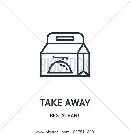 Take Away Icon Isolated On White Background From Restaurant Collection. Take Away Icon Trendy And Mo