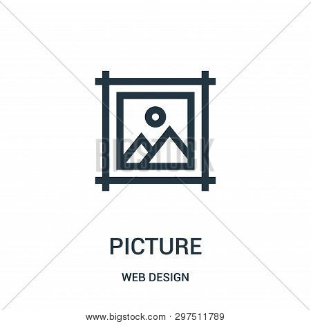 Picture Icon Isolated On White Background From Web Design Collection. Picture Icon Trendy And Modern