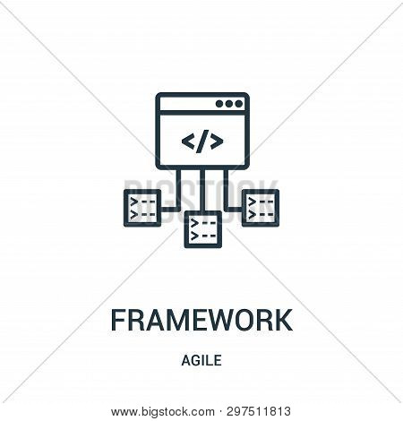 Framework Icon Isolated On White Background From Agile Collection. Framework Icon Trendy And Modern