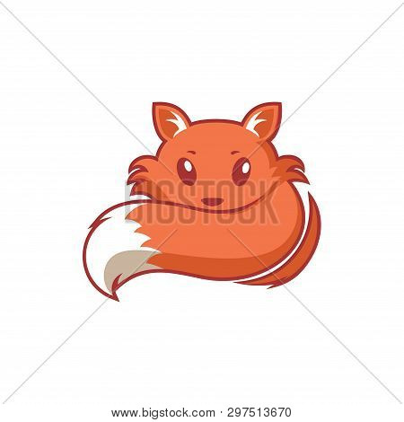 Friendly Fox Cartoon Sleeping Character Logo - Shy Tame and Adorable poster