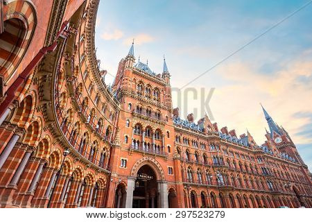 London, Uk - May 12 2018: St Pancras Station Is A Central London Railway Terminus. It Is The Termina