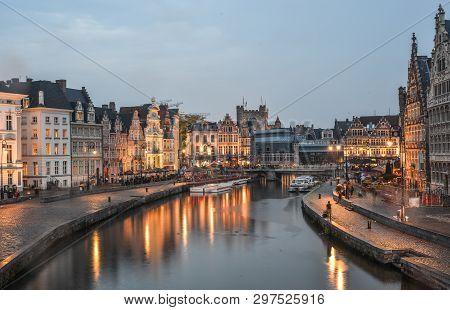 Historic Quarter In Gent, Belgium