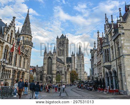 Ancient Buildings In Gent, Belgium