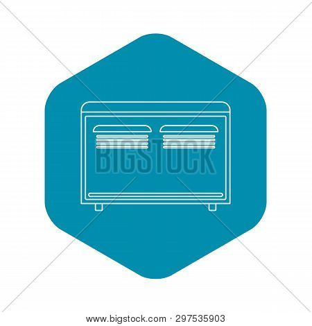 Convector Heater Icon. Outline Illustration Of Convector Heater Vector Icon For Web