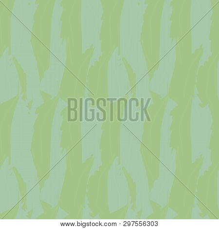Abstract Blue Green Overlapping Watercolor Effect Foliage Texture. Seamless Vector Pattern With Fres