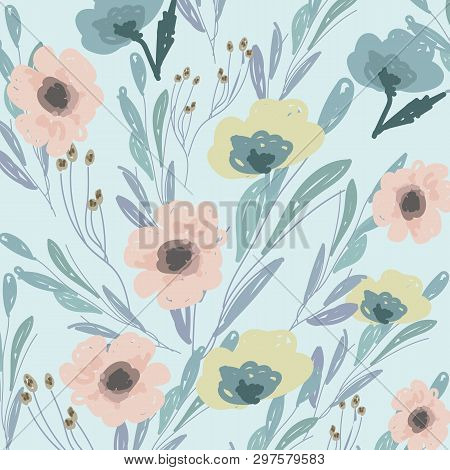 Watercolor Bouquet Of Flowers. Hand Painted Colorful Floral Composition Isolated On White Background