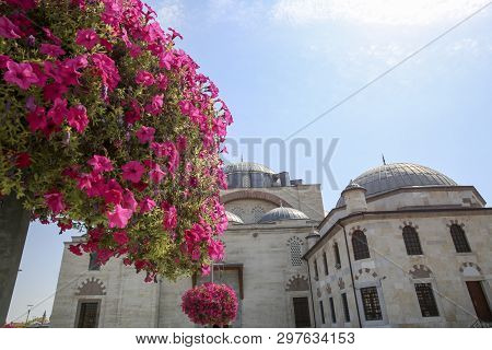 Selimiye Mosque Yusuf Aga library Konya Turkey poster