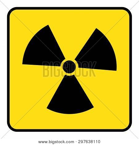 Radiation Icon Drawing By Illustration.radiation Icon In Yellow Background Drawing By Illustration