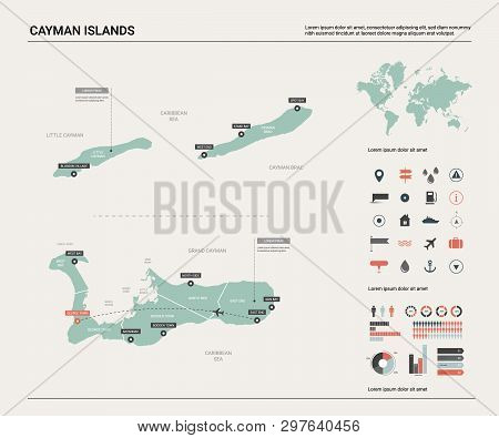 Vector Map Cayman Vector & Photo (Free Trial) | Bigstock on